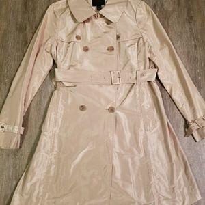 J CREW 100 % silk trench coat size size 12